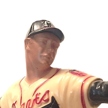 Vintage Eddie Mathews Figurine |  Original 1950's Braves Hartland Figurine |  MLB Hall of Fame |  Vintage MLB  Unique Gift Christmas Gift