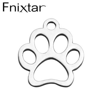 Fnixtar Lovely Aniaml Footprint Charm Beach Conch Charms for DIY Bracelet Necklace Accessories Jewelry Fitting 20 Piece/Lot