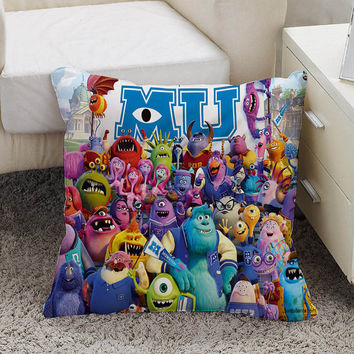 monster university Pillow case size 16 x 16, 18 x 18, 16 x 24, 20 x 30, 20 x 26 One side and Two side