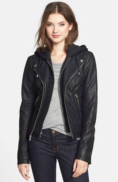 Women S Guess Faux Leather Moto Jacket From Nordstrom