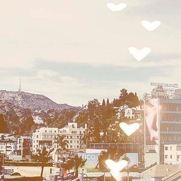 Los Angeles Photograph, love, downtown LA, west coast, Hollywood Sign, California travel, boke, photography, city streets