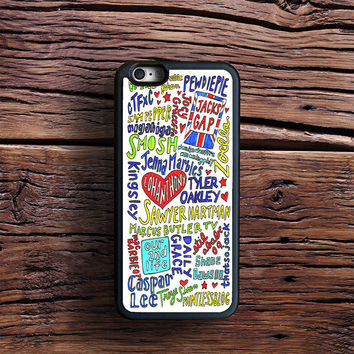 Youtubers Collage Case iPhone 6s Plus, iPhone 6 case, iPhone 5s 5C 4s Case, Samsung Case, iPod case, iPad Case, HTC Case, Nexus Case, LG case, Xperia case
