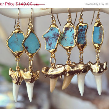 ON SALE TURQUOISE Waters /// Dangle Earrings