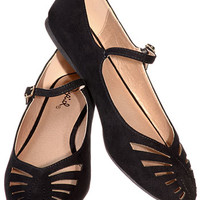 Licorice Whip Maryjane Flats