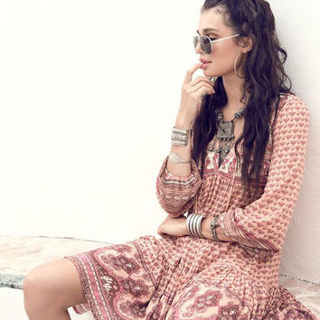 Sunset Road Boho Dress - Peach