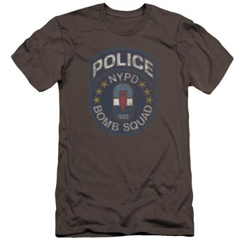 NYPD Premium Canvas T-Shirt Police Bomb Squad Charcoal Tee