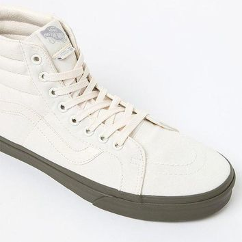 DCCKYB5 Vans Vansguard Sk8-Hi Reissue White and Green Shoes