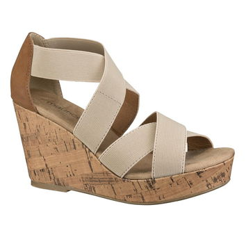 Natural Darcy Stretch Wedge - Beige