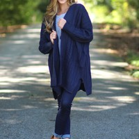 Cozy Sunday Cardigan in Navy | Monday Dress Boutique