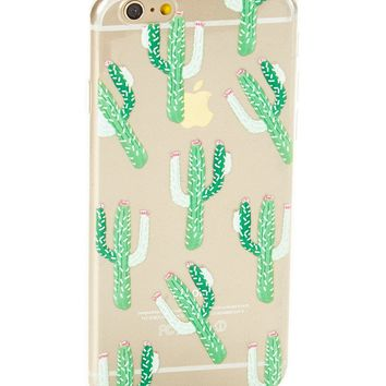 Clear Desert Cactus Soft Case for iPhone 7