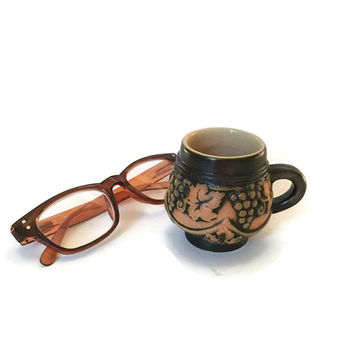 Clearance Mulled Wine Stein, Wine Mug, Grapevine Decor
