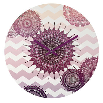Monika Strigel Sweet Boho Dreams Round Clock