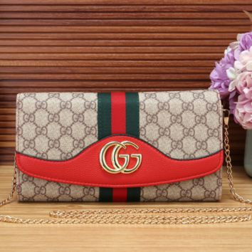 Gucci Clutch Bag Wallet Purse with Chain