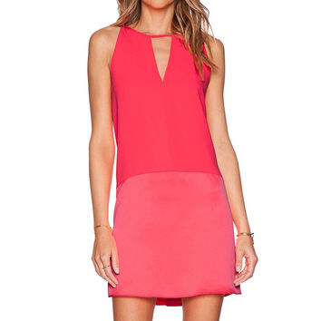 Parker Crosby Dress in Shock Pink