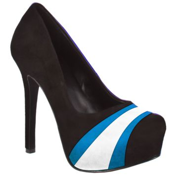 HERSTAR™ Black Bright Blue White Team Color Suede Pumps