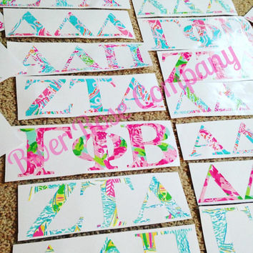 Sorority Decal • Lilly Sorority Decal • Lilly Decal • Greek Letters Decal • Yeti Decal • Car Decal • Laptop Decal • Sorority Sticker