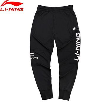 Li-Ning NYFW Unisex Basketball Series Vintage Pants CHINA LINING Regular Fit Polyester LiNing Sports Pants AKLN787 MKY386
