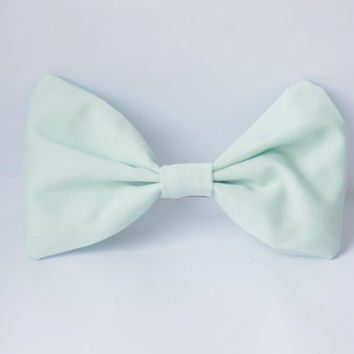 Cute Pastel Mint Green Small Hair Bow