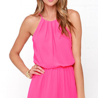 Borrow a Kiss Hot Pink Romper
