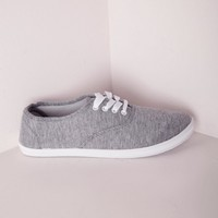 Missguided - Lace Up Pumps Grey