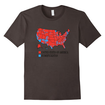 Dumbfuckistan T-Shirt City vote Map United States of America