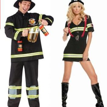 2016 Hot sale adult Halloween costume movie costumes fireman sam cosplay costume carnival costume