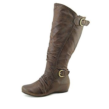 Baretraps Womens Shauna Faux Leather Slouchy Knee-High Boots