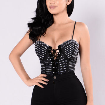 Let's Keep It That Way Bodysuit - Black