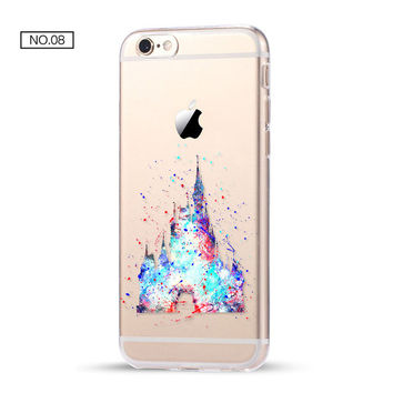 Clear Soft Disney Phone Case For iPhone 7 7Plus 6 6s Plus 5 5s SE C