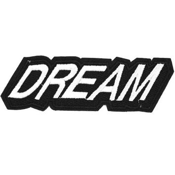 1Pcs Dream Letter Patch Applique Cartoon Iron On Hippie Patches Cheap Embroidered Sewing Patches For Clothes Kids Jacket Badge