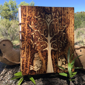 Wedding Photo Album, Wood Anniversary Gift- Wedding Guest Book- Wood Albums- Coptic Stitch Albums- Wedding Journal