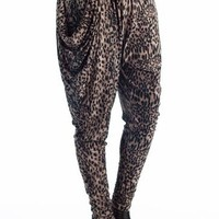 leopard print harem pants $15.00 in BROWN - New Bottoms | GoJane.com