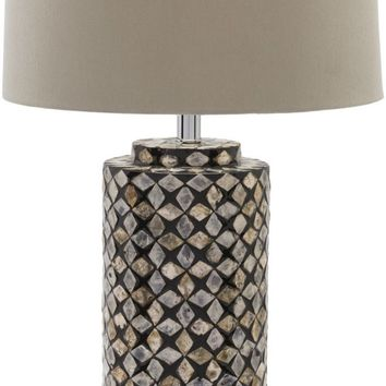 Greenway Contemporary Table Lamp Shell Finish Beige