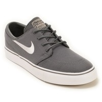 Nike SB Zoom Stefan Janoski Grey, White, & Brown Skate Shoes