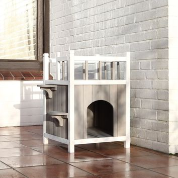 TRIXIE Wooden Cat Home with Balcony | Overstock.com Shopping - The Best Deals on Cat Furniture
