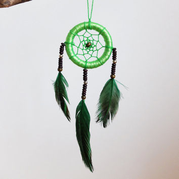 Dreamcatcher, Car Dream Catcher, Car Dreamcatcher, Small Dreamcacher for car, Car Accessories, Rear View Mirror, Car Charm, Green, Mini