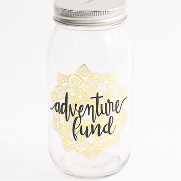 Adventure Fund Mason Jar Bank