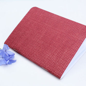 Red Rustic Graph Texture Traveler's Notebook Journal Stationary Planner Insert Blank Pages Sketchbook