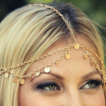 TS1000 Fashion Hair Accessories Head Chain Boho Beach Jewelry Headband Tassel