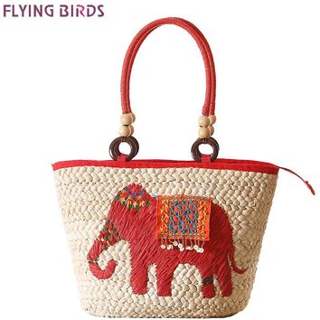 FLYING BIRDS women travel bags beach bag women handbags Bohemian straw bag summer style handbags clutch women's bags A1087fb