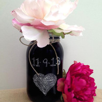 Chalk Board Mason Jar