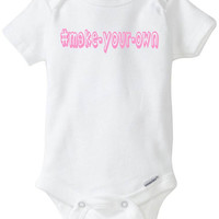 HASHTAG Hipster Baby Onesuit - Funny Baby Gift: # Customize ANY word or phrase - you choose color! Boy or Girl Babyshower Gift Baby Clothes