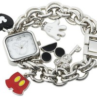 Disney Women's MK2059 Mickey Mouse Charm Bracelet Watch