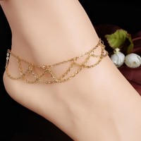 Shiny Stylish Cute Ladies Gift Jewelry Sexy New Arrival Accessory Hot Sale Chain Simple Design Anklet [7241004999]