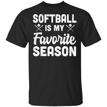 Softball Is My Favorite Season Cool Saying For Sports Lovers