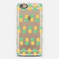 Pineapple Stripes - Transparent/Clear Background iPhone 6 case by Lisa Argyropoulos | Casetify