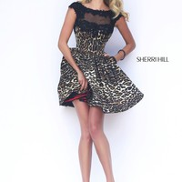 Sherri Hill 32111 Leopard Print Cocktail Dress