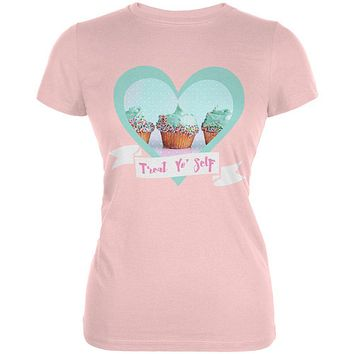 Treat Yo Self Cupcakes Juniors Soft T Shirt