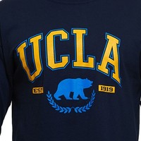 UCLA Store - UCLA Tall Block Over Bear Long Sleeve T-Shirt - Navy