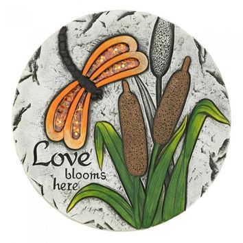 Love Blooms Here Garden Stepping Stone